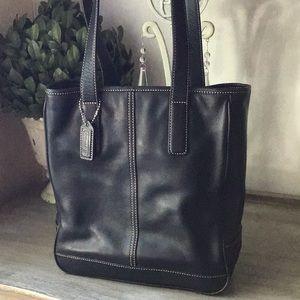 COACH Vintage Hampton TOTE 7776 Black Leather